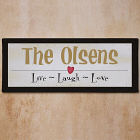 Live Laugh Love Personalized Wall Canvas