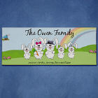 Personalized Easter Wall Canvas -Bunny Family