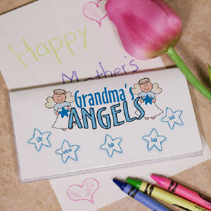 Personalized Angels Checkbook Cover