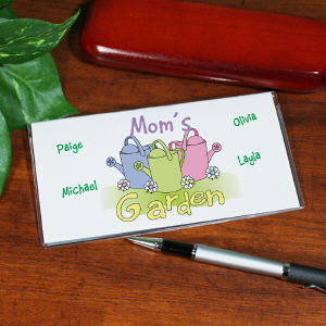 Personalized Garden Checkbook Cover