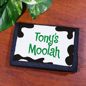 Personalized Moolah Kids Velcro Wallet