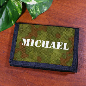 Personalized Camouflage Wallet