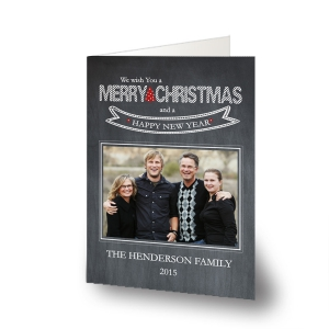 Wishing You A Merry Christmas Photo Cards-Folded