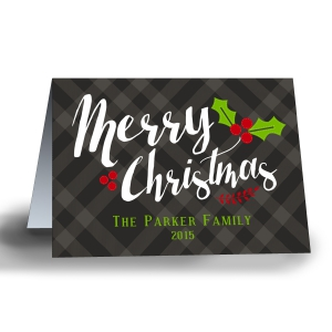 Classic Plaid Personalized Christmas Cards