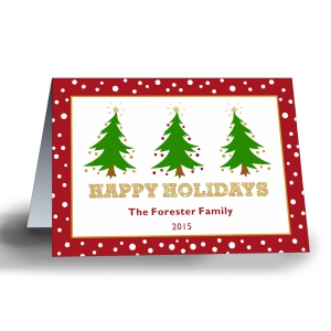 Oh Christmas Tree Personalized Holiday Cards-Folded