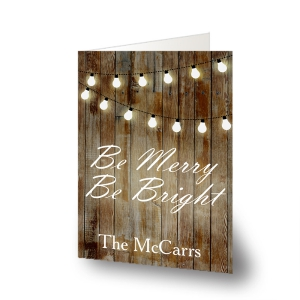 Merry and Bright Personalized Holiday Cards-Folded