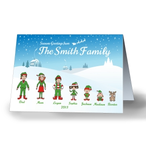 Holiday Character Personalized Christmas Cards