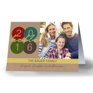 Happy New Year 2016 Personalized Greeting Cards 1983610X
