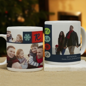 Christmas Photo Collage Personalized Mug