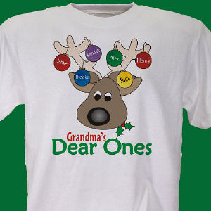 Deer Ones Christmas Personalized T-Shirt