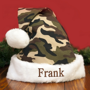 Embroidered Camo Santa Hat E9733189