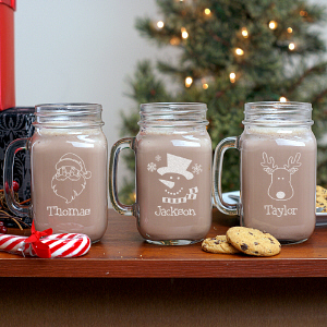 Personalized Christmas Mason Jar