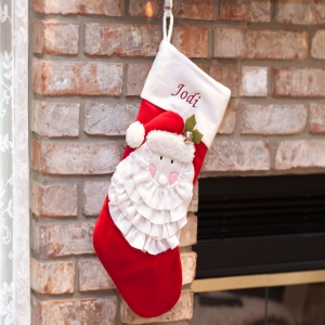 Personalized Santa Christmas Stocking | Embroidered Christmas Stockings