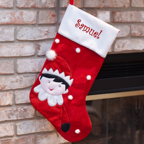 Elf On The Shelf Personalized Stocking | Personalized Christmas Stockings
