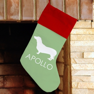 Dog Breed Personalized Stocking | Personalized Stocking