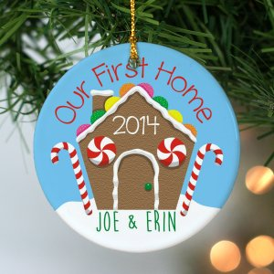 Our First Home Personalized Ornament