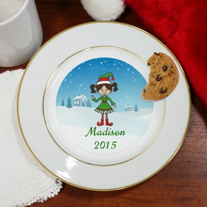 Personalized Holiday Character Kids Plate