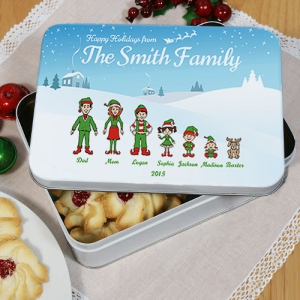 Personalized Holiday Character Tin