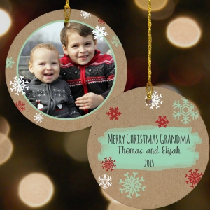 Any Message Personalized Photo Ornament