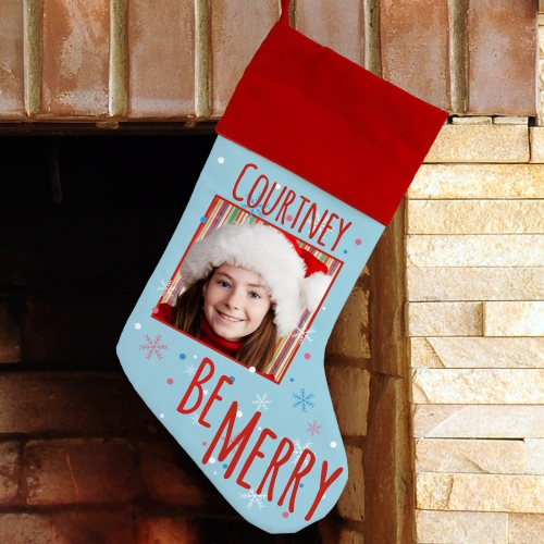 Personalized Photo Christmas Stocking | Personalized Stocking