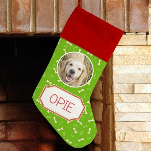 Reindeer Portrait Personalized Stocking U981584