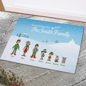 Personalized Holiday Character Doormat