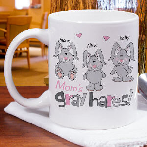 Personalized My Gray Hares Ceramic Mug