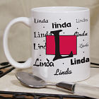 Personalized Name & Initial Ceramic Mug