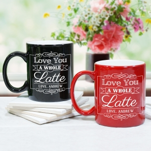 Engraved Latte Mug