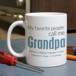 Favorite Grandpa Personalized Mug