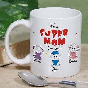 Personalized Super Grandma Mug