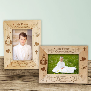 My First Communion Wood Picture Frame