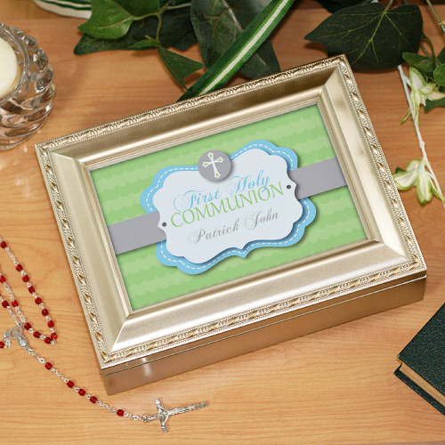 Personalized First Communion Music Box MB174413S