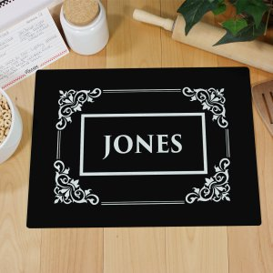 Personalized Filigree Cutting Board