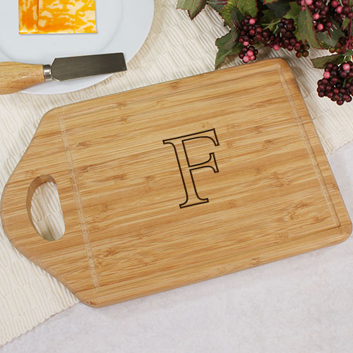 Monogrammed Bamboo Cheese Cutting Carving Board | Personalized Cutting Boards