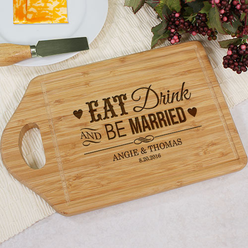 Engraved Be Married Chef Carving Board | Personalized Wedding Gifts for Couple