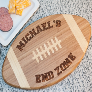 Engraved Football Cutting Board