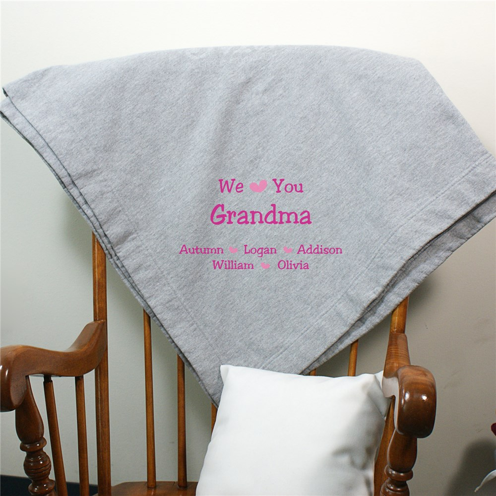 Personalized We Love You Stadium Blanket | Mother's Day Personalized Gifts For Grandma