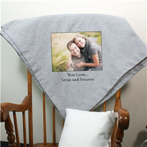 Custom Message Photo Fleece Blanket | Romantic Home