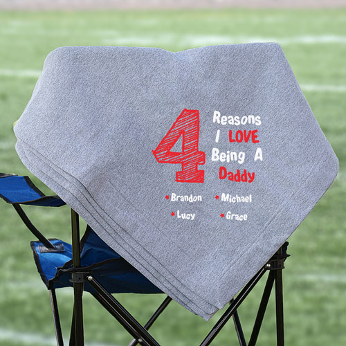 Personalized I Love My Children Stadium Blanket | Personalized Blankets