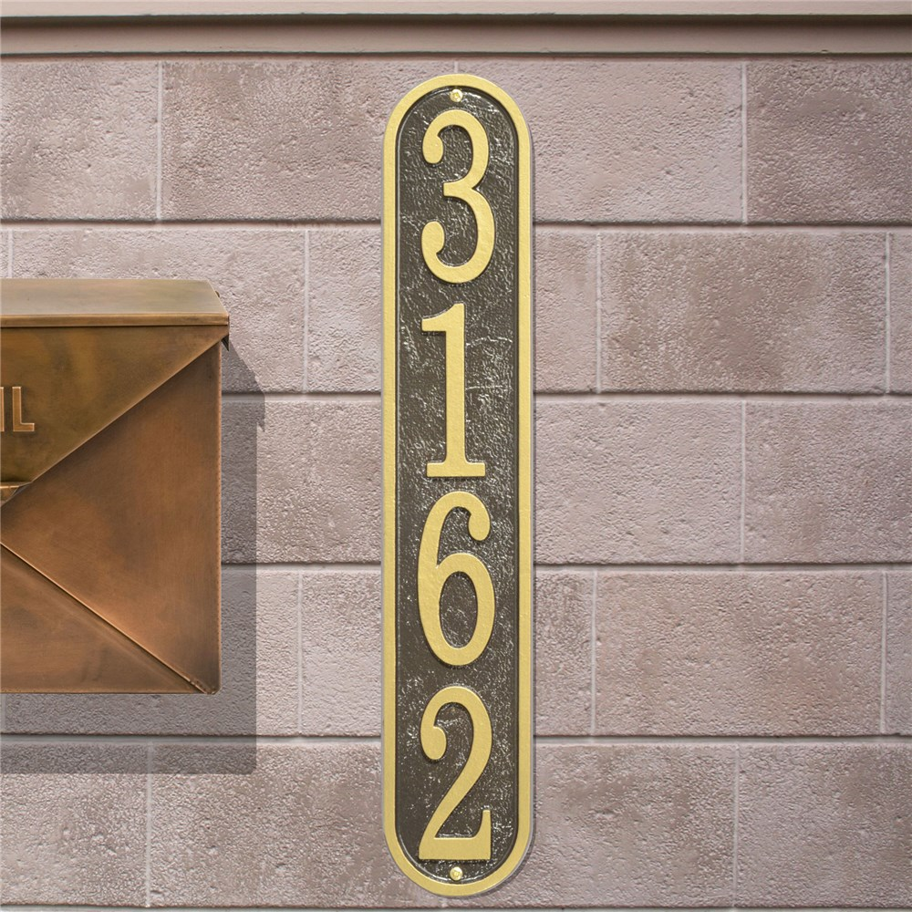 Personalized Vertical House Number Plaque | Housewarming Gift Ideas