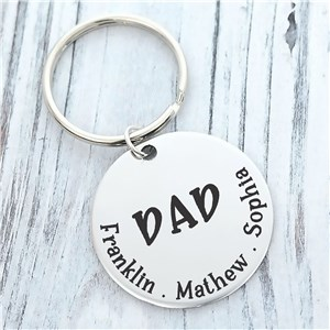 Personalized Dad Key Chain | Father's Day Keepsake