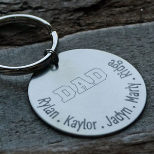 Personalized Dad Key Chain DKBKCDAD