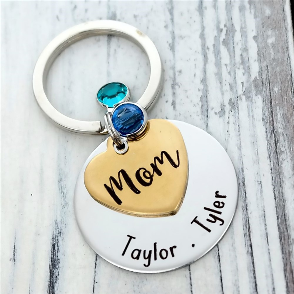 World's Best Mom Hand Stamped Keychain | Personalized Jewelry