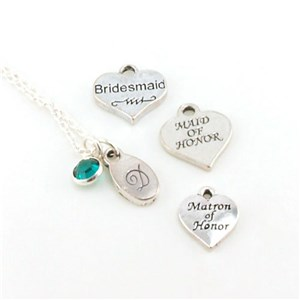 Bridal Party Personalized Necklace | Bridesmaid Necklaces