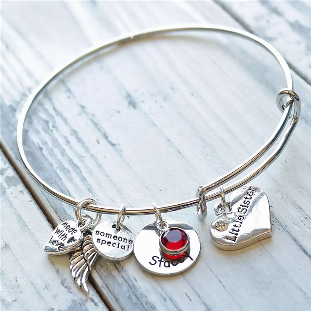 Personalized Little Sister Bracelet | Personalized Sister Gifts