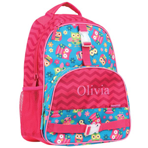 Personalized Chevron Owl Backpack