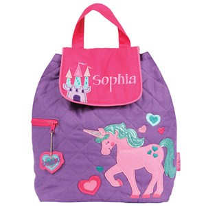 Quilted Unicorn Embroidered Backpack  E000261