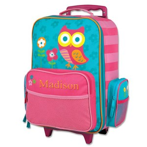Embroidered Owl Rolling Luggage E000275