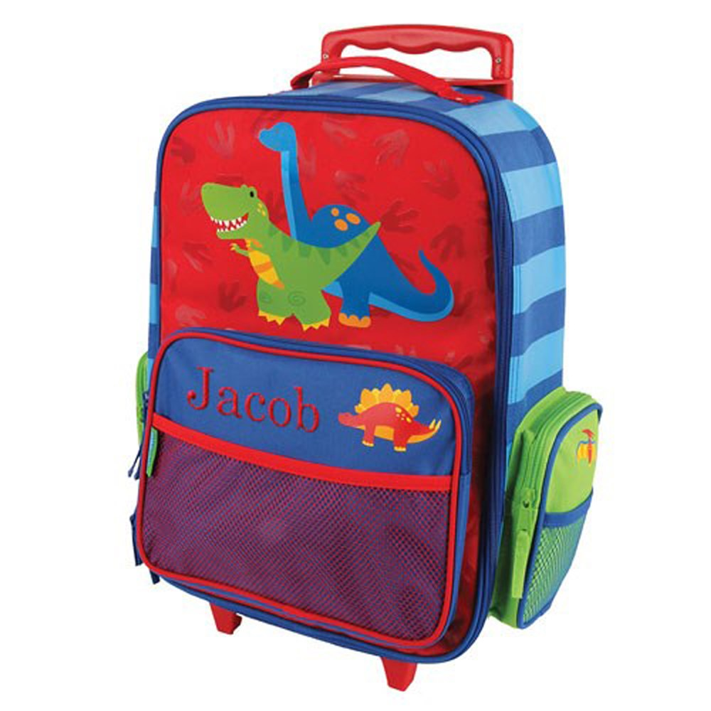 Embroidered Dinosaur Rolling Luggage E000276